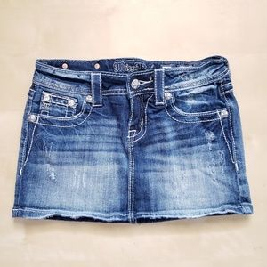 Miss Me Jeans Distressed Skirt Size 25